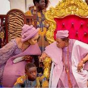 20 Photos of Alaafin of Oyo giving us fashion goals in Yoruba native attires