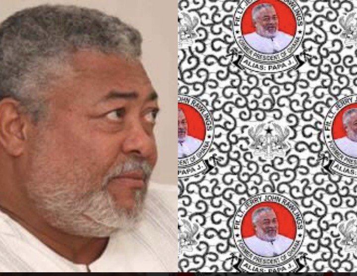 """041737df7b144092abf704c4b7c60dc8?quality=uhq&resize=720 - """"Ghana Mourns"""": Funeral Cloths With JJ Rawlings Image In High Demand In Ghana"""