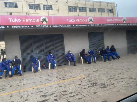 Heavy Police Presence as Murkomen Appears at Jubilee Party Headquarters