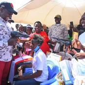 DP Ruto Excites Netizens After Turning to a Hairdresser in His Meru County Visit(Photos)