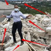 After Her Boyfriend Demolished The House He Built For Her, See What She Did That Got People Talking