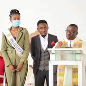 Yopougon: La Miss CI 2020 offre à une église catholique la somme d'un million de Franc CFA