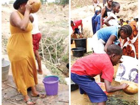 Water Scarcity Looms In Abuja As Residents Drink From Stream (Photos)
