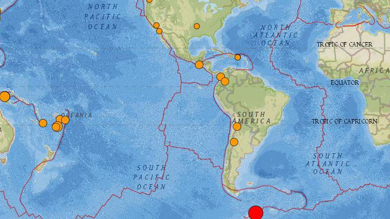 2 quakes hit Chile, South Shetland Islands; no major damage