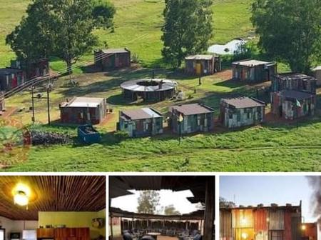 Shanty Town Hotel. It's A Fake Slum Themed Resort In South Africa For Tourists