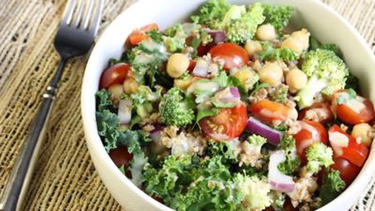 Kale Salad with Tahini Dressing