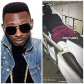 MayD tells Nigerians to pray for him as he suffers burn and is hospitalized (pictures)