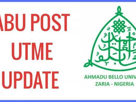 ABU Post UTME Application Form Is Still Online.