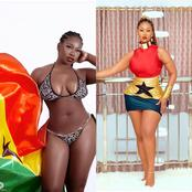 Photos Of Hajia 4real And Shugatiti Flaunting Their Skin Off In Ghanaian Independence Outfit