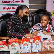 Photos: Actress Uche Elendu's daughter, Michelle secures new endorsement with Dano Milk.