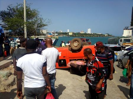 Another Bad Accident at Likoni Ferry Barely Hours After A Trailer Plunged Into The Indian Ocean