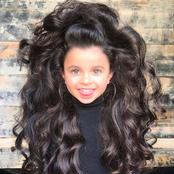 Meet Mia Aflalo, the Little Girl with a Cute and Long Natural Hair (Photos)