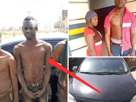 Kidnappers Arrested By Navy Officers In Kaduna State, Check Out What They Did (Photos)