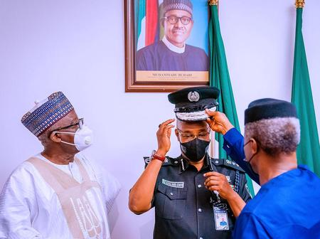 Photos From The Official Decoration Of The New IGP By The Vice-President, Prof. Yemi Osibanjo.