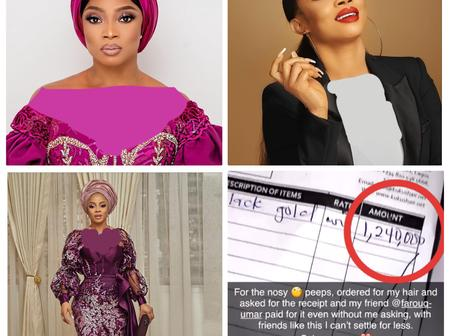 Christmas Comes Early For Toke Makinwa As Man Gifts Her Luxury Hair Worth Million Of Naira (Pictures)