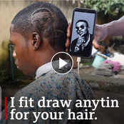 Video: Meet The 20-Year-Old Nigerian Barber Who Can Draw Anything On Your Head