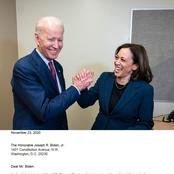 Congratulations to Joe Biden as the GSA writes to him to formally begin the transition process.
