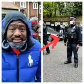 After Buhari Supporters Stormed UK To Halt The Protest Today, See The Wise Thing Police Officers Did
