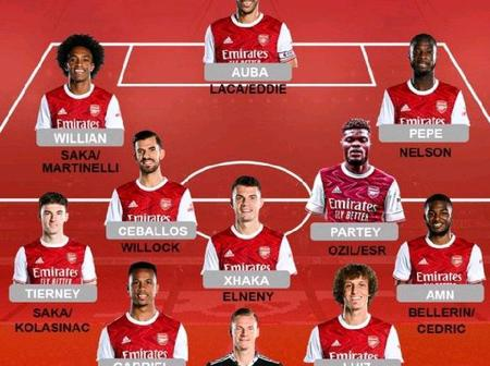 Possible Arsenal Lineup Against Manchester United This Sunday (01/11/2020) At Old Trafford