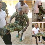 Check Out What Happened To This Young Soldier That Caused Reactions