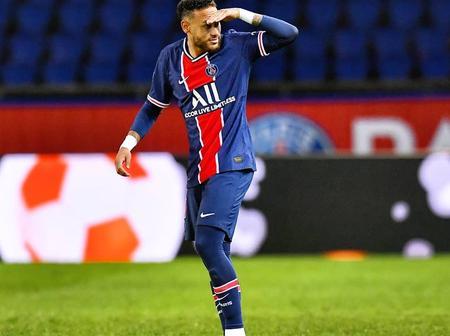 PSG: Neymar scores as psg beats Angers- 6:1 (picture).