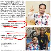 Various People Drag Prophet Odumeje As He Refuses To Forgive Ada Jesus, Check Out Reactions.