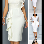 White Dresses for Church Service