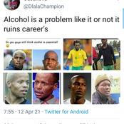 Mzansi fuming after a guy said these former soccer player's careers was ruined by alcohol