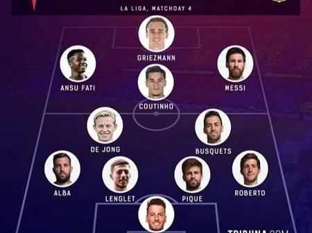 Barcelona Possible Line-up Against Celta Vigo In The La Liga Today