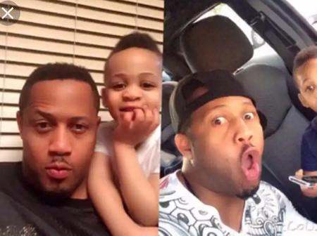 Cute Pictures of Nollywood Actor, Mike Ezuruonye And His Son Reynold