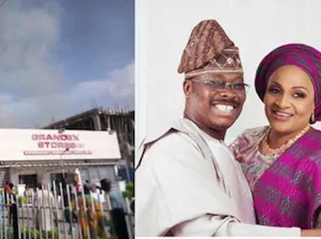Former Oyo State Governor, Late Ajimobi's Wife Supermarket Catches Fire in Ibadan