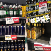 Many People Are In Shock After Seeing The Prices Of Different Expensive Alcohol At Shoprite Liquor.