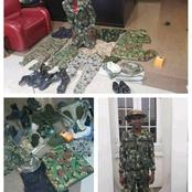 See What Was recovered from the military imposter that was arrested in Akwa Ibom State