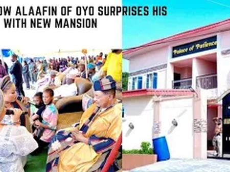 Check Out How Alaafin Of Oyo Suprises His Wives With New Mansion (Video)