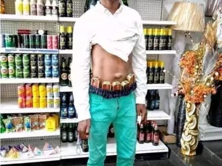 See what was found on a young man after he entered a supermarket: photos