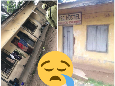 People React After Photos Showing The Poor Condition Of A NYSC Hostel Surfaced Online