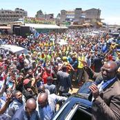 Kenyans React As Hundreds Welcomes DP Ruto in Murang'a (Photos)