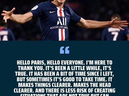News: Cavani send PSG fans message after joining Man U as Wilshere terminated his contract and more.