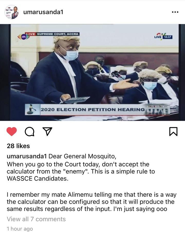 0679895883564592b9ffb6137b47b1f1?quality=uhq&resize=720 - When You Go to Court, Don't Accept The Calculator From The Enemies - Umaru Sanda Advises Asiedu Nketiah