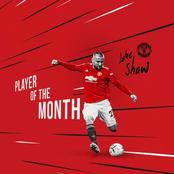 Luke Shaw wins Manchester United Player of the month award after he just escaped a ban from The FA