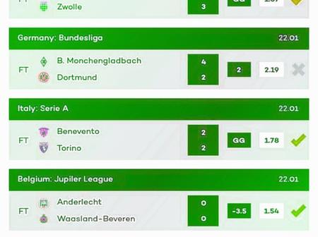 Today's Eight (8) Must Win Correct Score VIP Multi bet Tips That Are Accurately Analysed