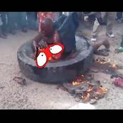 An Arm Robber Was Burnt To Death Before The Police Arrival