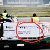 South Africans Notice Something Weired On The Pack Of The Imported Vaccines That Arrived At Or Tambo