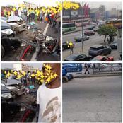 Voici les images de l'accident de ce mercredi matin sur le VGE