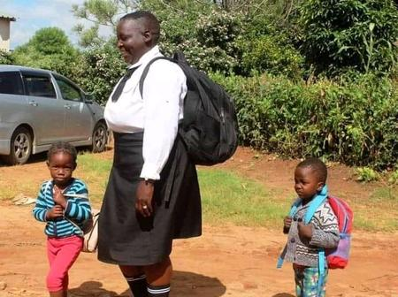 A 62 years old woman goes back to school to start at grade 8