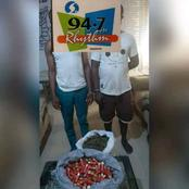 Police Arrest Two Suspect With 150 Live Cartridges And Bag Of Weed, See Where They Were Arrested