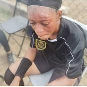 See How A Female Player Beat Referee Up In A Match.