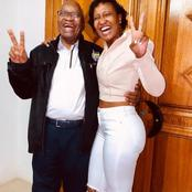Duduzane Zuma's twin sister, Duduzile Zuma celebrates her father's birthday. Zuma's quirky pictures.