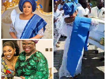 Yoruba Actress Toyin Abraham Attends Funeral Service Of Iyabo Ojo's Mother