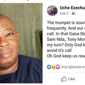 SAD : Popular Igbo Man Who Asked When It Will Be His Turn To Die Three Weeks Ago Is Now Dead(Photos)